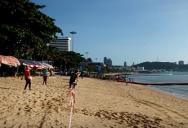 Марафон бег на пляже в Паттайе