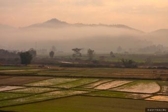 Утро в тайской деревне