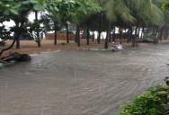 Потоп на Бич Роад октябрь 2014