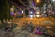 Из камеры видеонаблюдения. Взрыв в Банкоке