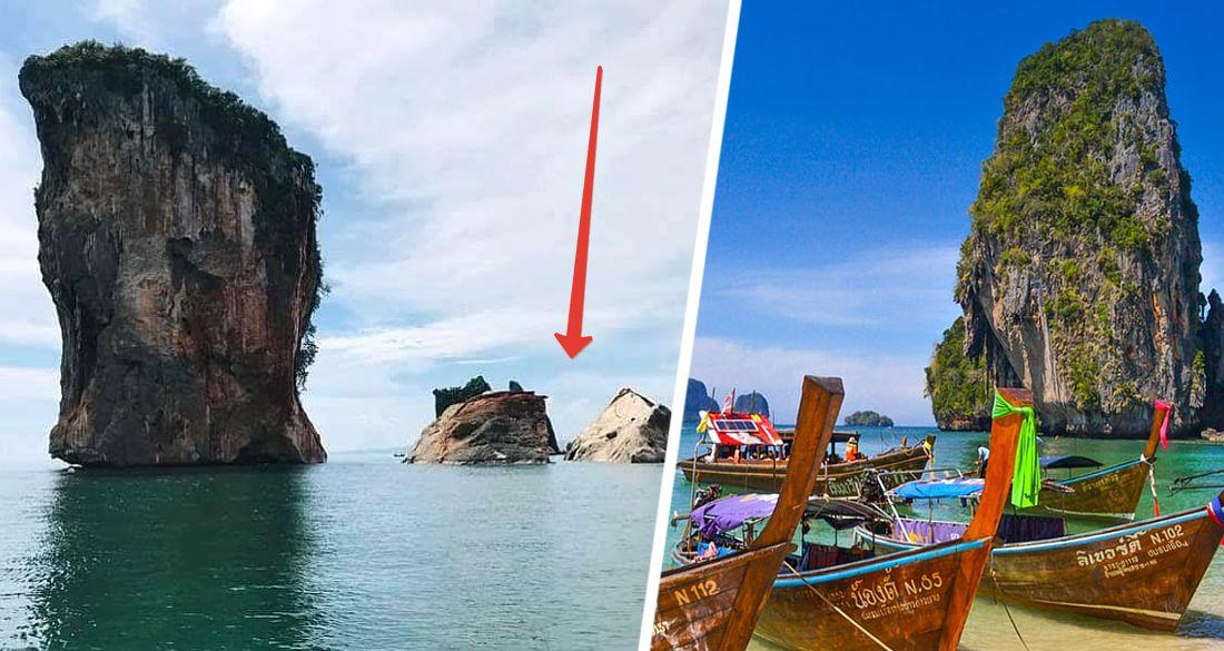 Катастрофа в Таиланде: на Пхи-Пхи рухнула в море туристическая достопримечательность