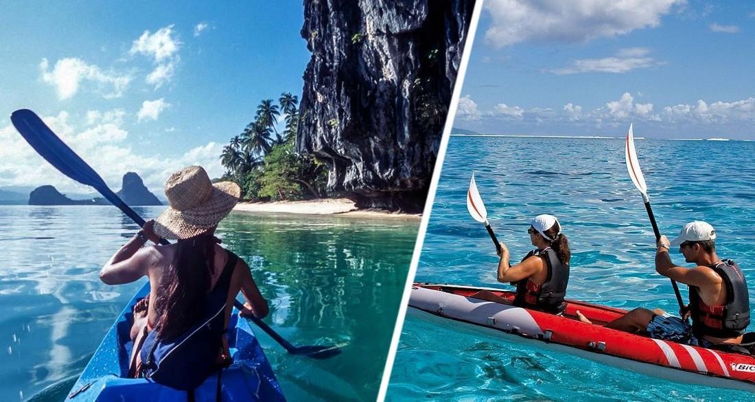 На Пхукете туристов на байдарке унесло в море