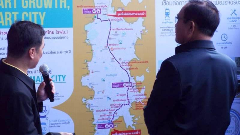Премьер-министр призвал к проведению открытых торгов по проекту легкорельсового транспорта на Пхукете