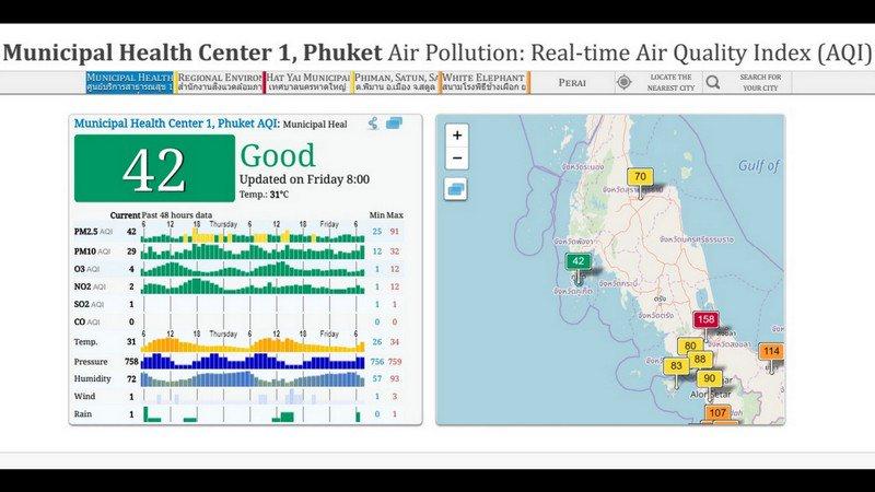 Индонезийский смог пока не сказался на качестве воздуха на Пхукете