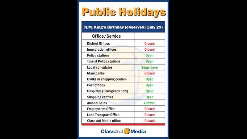 День рождения Его Величества Короля: на Пхукете грядут большие выходные