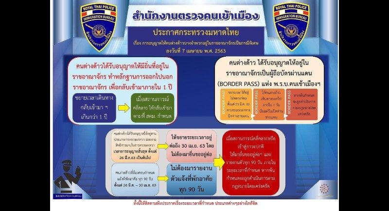 В Таиланде визы иностранцам автоматически продлили до конца апреля