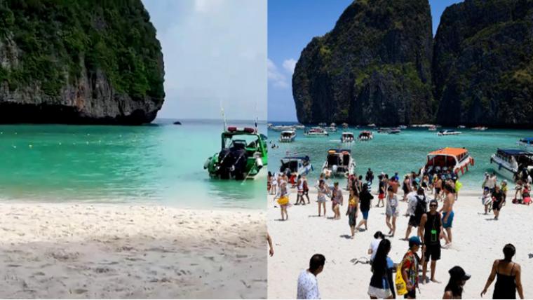 Знаменитая бухта Майя Бэй из фильма «Пляж» закрыта для туристов в первый раз за 30 лет