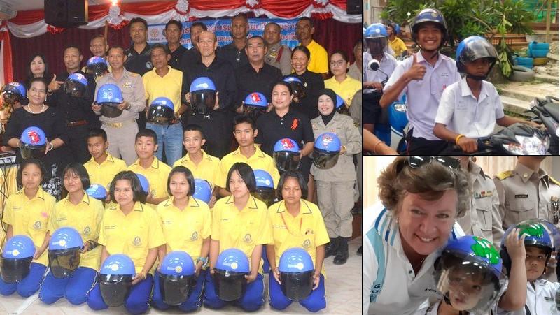 В Раваи подросткам выдали 350 мотоциклетных шлемов