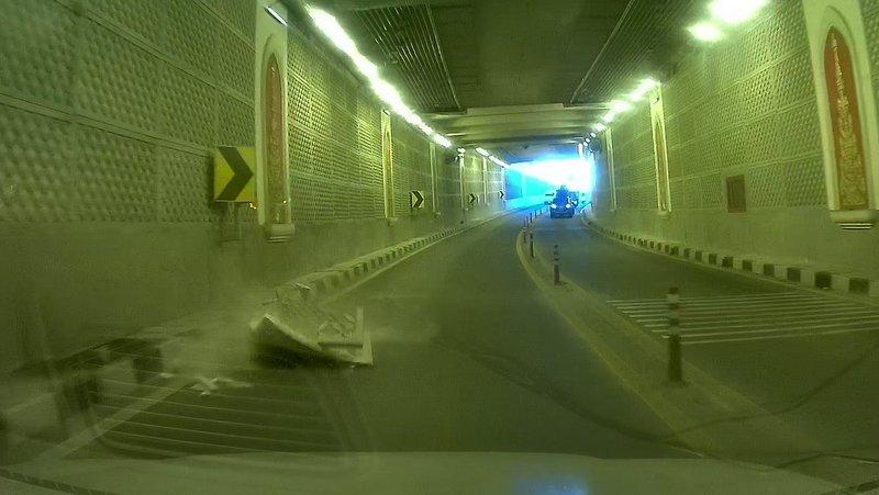 Водителей просят проявлять повышенную осторожность в тоннеле под кольцом Чалонга в ближайшие две недели