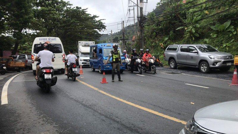 Полиция Патонга призывает водителей не использовать дорогу Камала-Патонг до 8 часов вечера