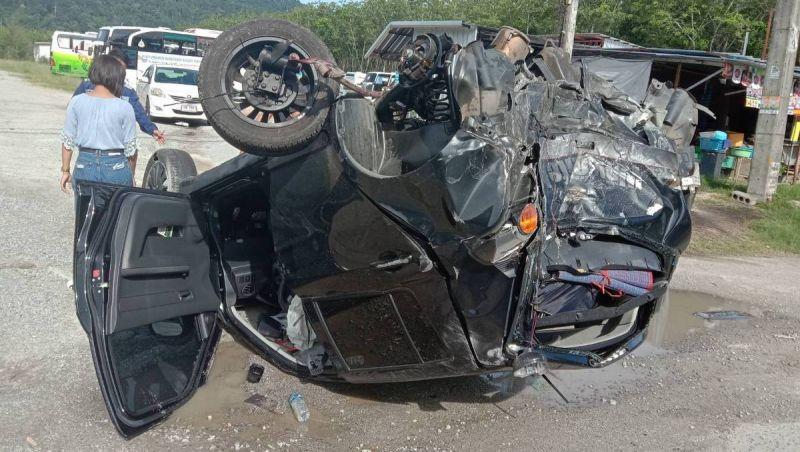 Водитель легковушки чудом выжил в серьезной аварии в Таланге