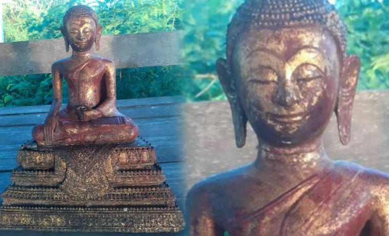 Украденную статую Будды неожиданно нашли на автобусной остановке в Таиланде