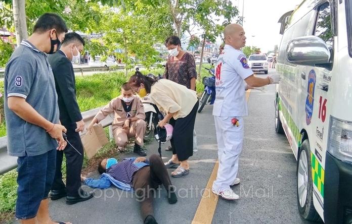 В Паттайе на помощь пострадавшим в аварии пришел моряк