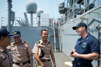 Совместные американо-таиландские военно-морские учения The Guardian Sea прошли в таиландских водах Андаманского моря в последнюю неделю мая