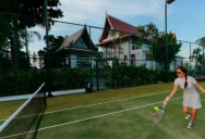Villa Riva private tennis coart Koh Samui Thailand