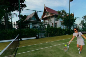 Villa Riva private tennis coart Koh Samui Thailand