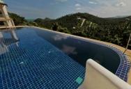 Water slide into the Pool Bang Por Villa Koh Samui