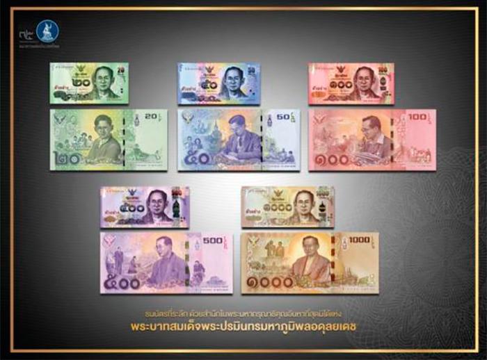 Памятные банкноты в память о Его Величестве Короле Пхумипоне Адульядете