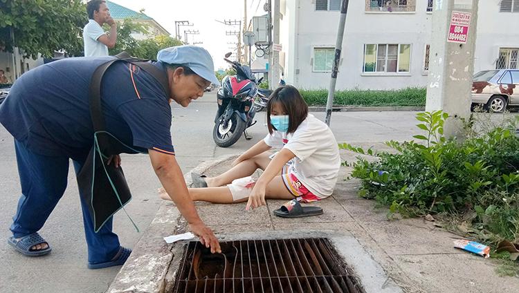 В районе Наджомтьена девочка-подросток провалилась в ливневую решетку