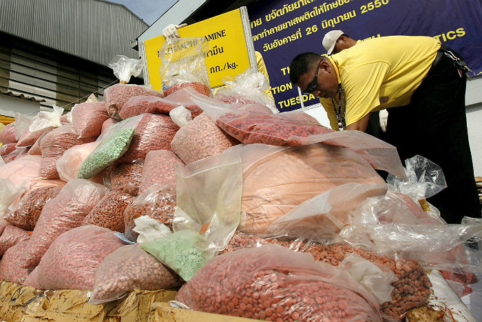 В Таиланде на аукционе продали машину с грузом амфетаминов