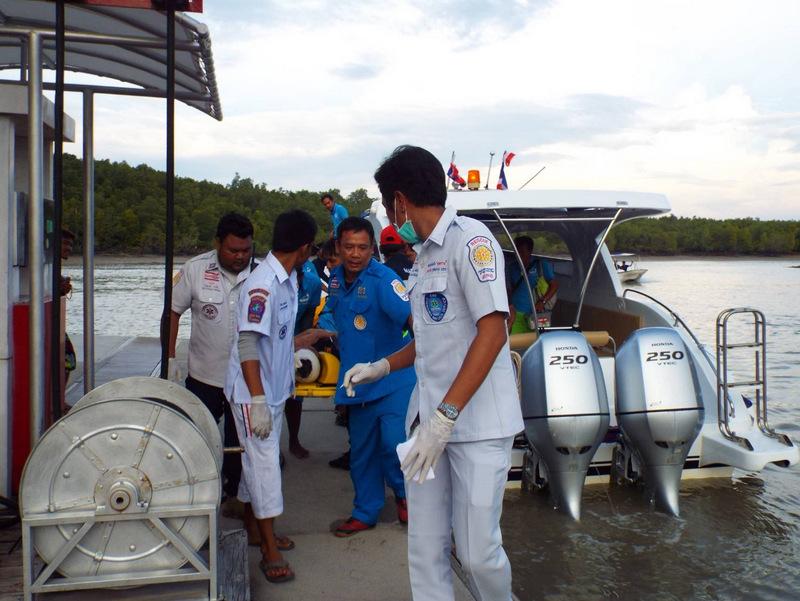 У острова Ранг произошло столкновение спидбота с грузовым судном