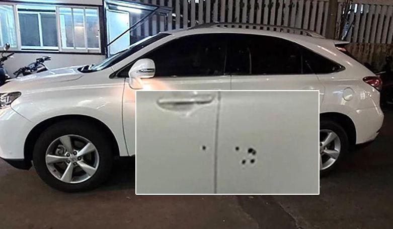 Машина жены бывшего шефа иммиграционной полиции Таиланда оказалась под обстрелом. К счастью, никто не пострадал