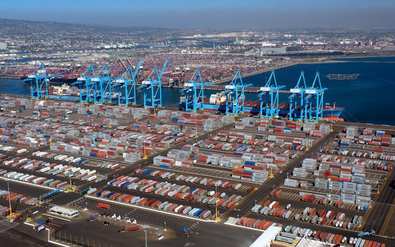 Порт в Лос-Анджелесе