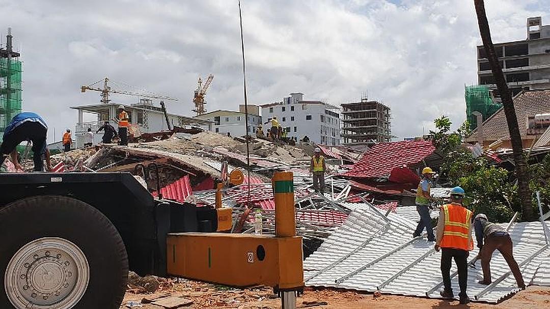 В Камбодже рухнул недостроенный дом: 13 человек погибли, 23 пострадали