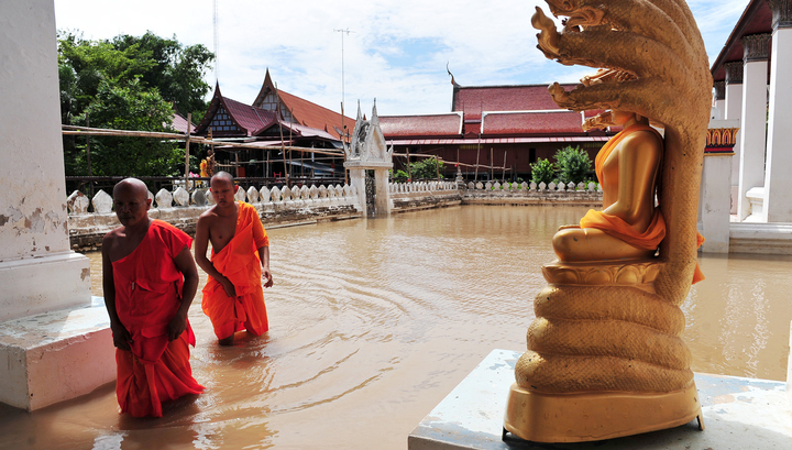 От наводнений в Таиланде пострадали более 70 тысяч человек