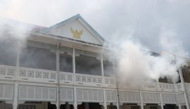 В здании администрации Пхукета Provincial Hall 12 сентября  прошли пожарные учения