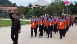 Церемонии открытия спортивных соревнований по Легкой атлетикае между  универститетами