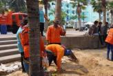 Уборка на пляжах Паттайи