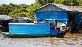 Жизнь на озере Тонлесап в Камбодже